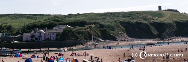 Bude beach view
