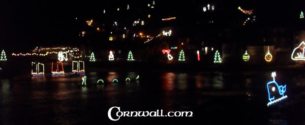Mousehole Christmas Lights Harbour